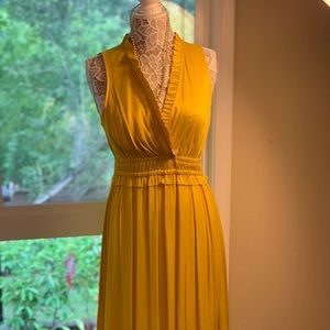 Anthropologie Size M Yellow Dress